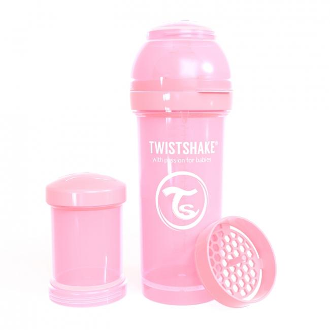 87237-TWISTSHAKE BIBERON ANTICOLICO 260 ML ROSA PASTEL(15-0)-0