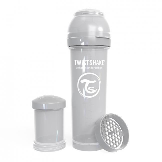 87242-TWISTSHAKE BIBERON ANTICOLICO 330 ML GRIS PASTEL(7-0)-0