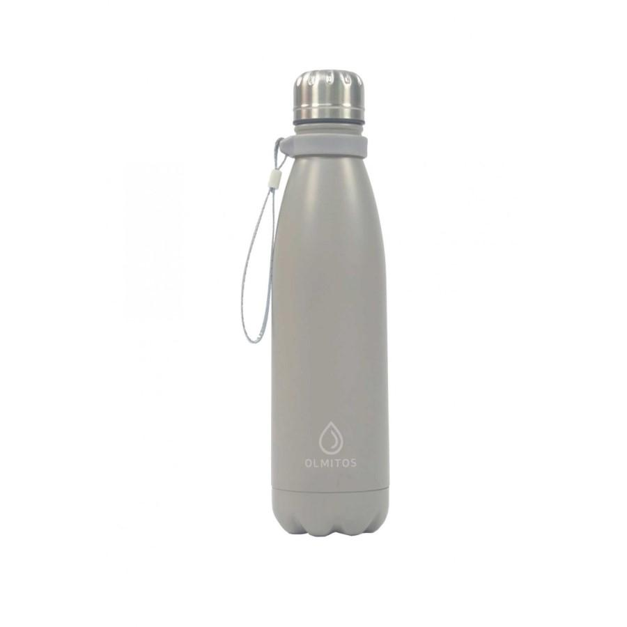 90600-BOTELLA TERMICA INOX 500 ML. GRIS OLMITOS(2-0)-0